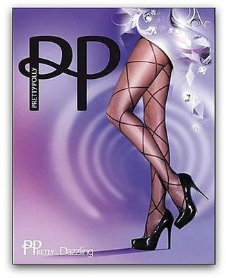 Pretty Polly Dazzling Sheer Diamond Patterned Tights Panty Hose