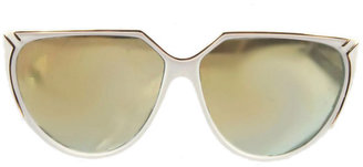 American Apparel Vintage IOC Mirrored White/Gold Sunglasses