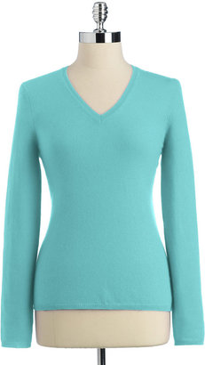Lord & Taylor Dusty Pastels Cashmere Long Sleeve V-Neck Pullover Sweater