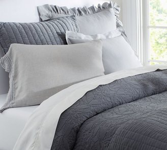 Pottery Barn Rustic Luxe & Bedding - Gray