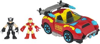 Playskool Crime-Cruising Car with Ironman & Wolverine