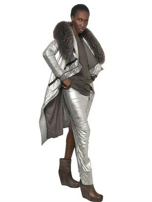 Rick Owens Washed Silver Cotton Poplin Coat