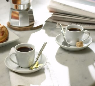 Pottery Barn Great White Espresso Cup & Saucer