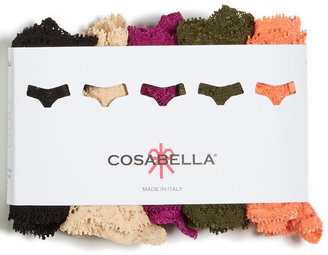 Cosabella Never Say Never Bootie Mid Rise Thong 5 Pack NSNPK5341