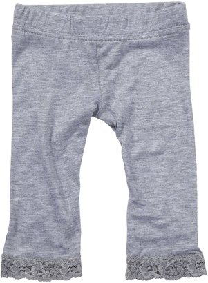 Erge Lace Legging - Heather Gray-12 Months