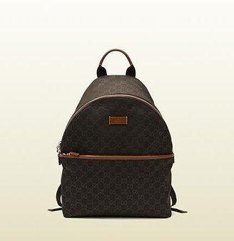 Gucci Brown Nylon Guccissima Backpack