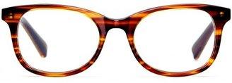 Warby Parker Clyde Striped Chestnut