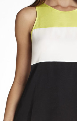 BCBGMAXAZRIA Lucie Blocked Sleeveless Top