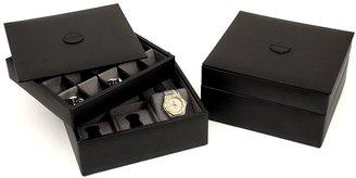 Bey-Berk Bey Berk Watch & Cuff Link Leather Box
