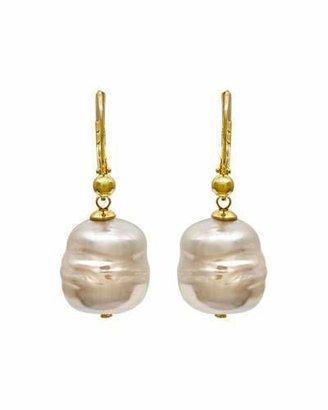Majorica 12mm Baroque Pearl Drop Earrings $80 thestylecure.com