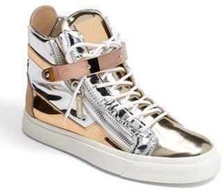 Giuseppe Zanotti 'London' High Top Wedge Sneaker
