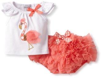 Mud Pie Baby-Girls Newborn Flamingo Diaper Cover Set