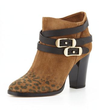 Jimmy Choo Melba Leopard-Print Suede Ankle Boot