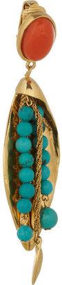 Aurelie Bidermann Monteroso gold-plated turquoise clip earrings