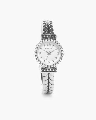 Chico's Chicos Anneliese Silver-Tone Cuff Watch