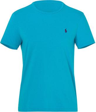 Ralph Lauren Blue Label Delray Blue Cotton T-Shirt