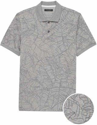 Banana Republic Slim Luxury-Touch Printed Polo Shirt
