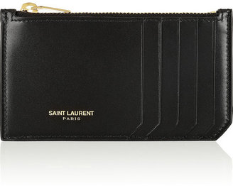 Saint Laurent Zipped leather card holder