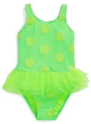 Hula Star One-Piece Tutu Swimsuit (Little Girls)