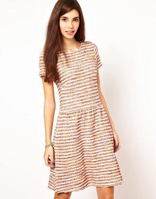 Asos Textured Knit Skater Dress