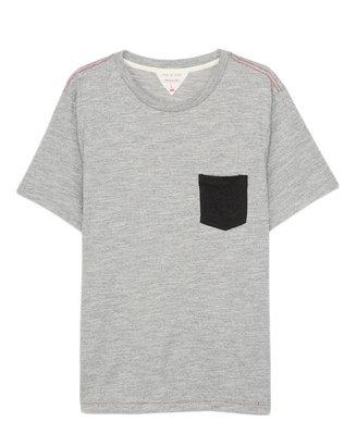 Rag and Bone Colorblock Pocket Tee - Grey Moulinex Cotton