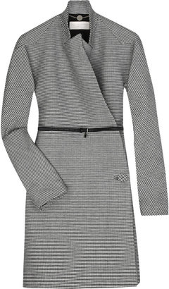 Stella McCartney Dogtooth wool wrap coat