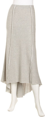 Romeo & Juliet Couture French Terry Maxi Skirt, Heather Gray