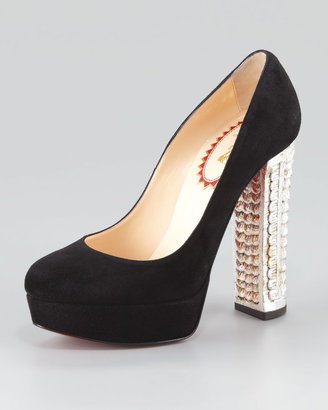Christian Louboutin Bois Dore Platform Red Sole Pump