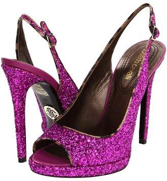 Roberto Cavalli Glitter Stiletto (Fuxia) - Footwear