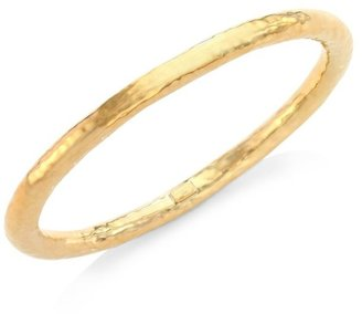 Ippolita Classico Super Thick 18K Yellow Gold Hammered Bangle Bracelet