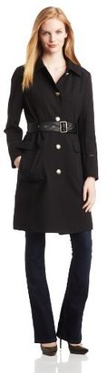 Vince Camuto Women's Trench Coat With Faux-Leather Belt