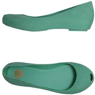 Melissa Peep-toe ballet flats