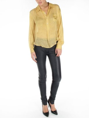 Mes Demoiselles Diane Yellow Sheer Blouse