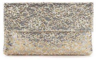 Townsend Lulu Lace & Metallic Foldover Clutch