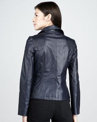 Neiman Marcus Leather Motorcycle Jacket