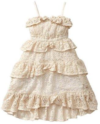 Gap Ruffle-trim lace dress