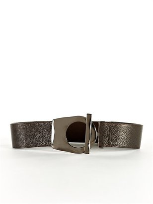 Suzi Roher Distressed Leather Molded Buckle Belt