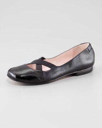 Taryn by Taryn Rose Elastic Crisscross Ballerina Flats