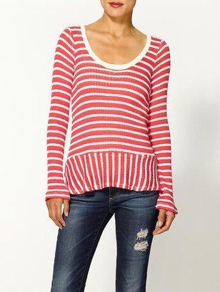 Splendid Panama Stripe Pullover Sweater