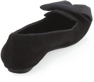 Neiman Marcus Stella Suede Loafer, Black