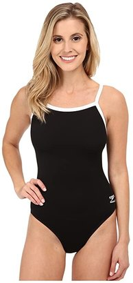Speedo Endurance+ Flyback Training Suit (Black) Women's Swimsuits One Piece