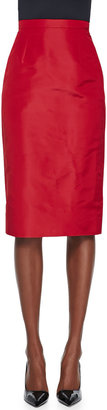 Oscar de la Renta Crepe Pencil Skirt