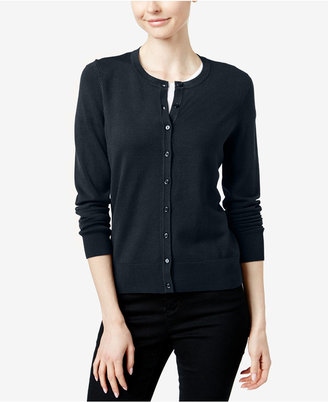 Charter Club Crew-Neck Cardigan, Created for Macy's $29.98 thestylecure.com
