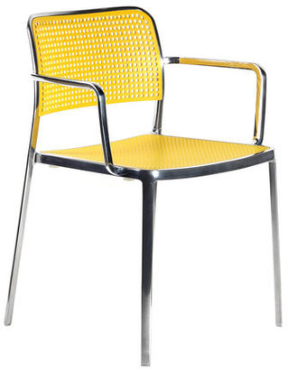 Kartell Audrey Armchair Polished Yellow