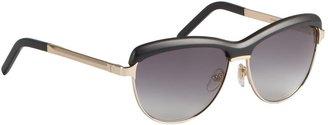 Saint Laurent Black Acrylic And Metal Cat-Eye Sunglasses