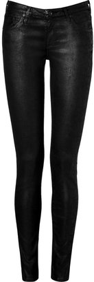 Adriano Goldschmied The Super Skinny Coated Jean Leggings in Leathered Black