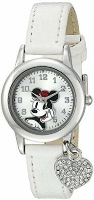 Disney Women's MN1009 Minnie Mouse White Lizard Strap with Charm Watch $29.99 thestylecure.com