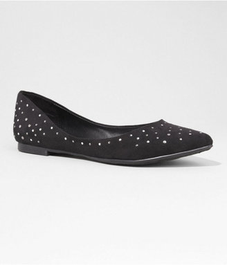 Express Studded Pointed Toe Flat