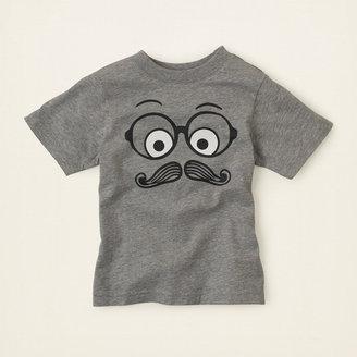 Children's Place Mustache scribble graphic