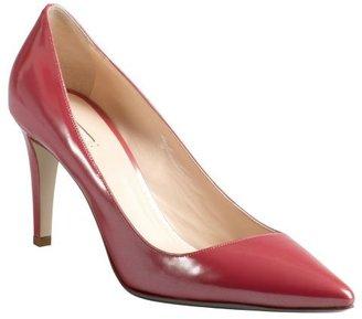 Giorgio Armani framboise patent leather pointed toe pumps